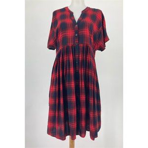 Anthropologie 11.1.Tylho Mona Shirt Dress Red